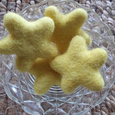 Little Felt Stars Yellow - Open Ended Loose Parts Play