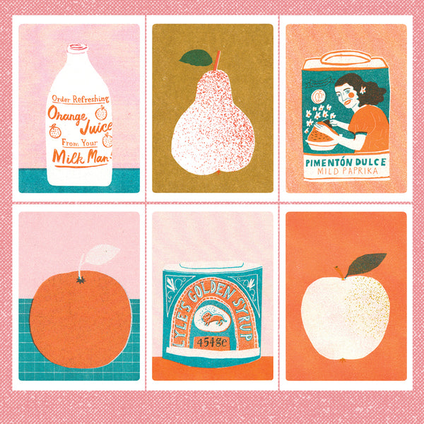 The Printed Peanut - Risograph Prints - Featuring Food