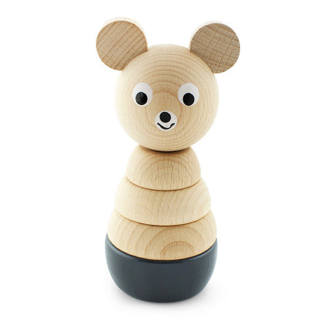Happy Go Ducky - Wooden Bernard Bear Stacking Toy