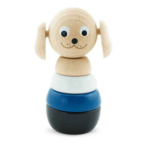 Happy Go Ducky - Wooden Banjo Dog Stacking Puzzle Toy