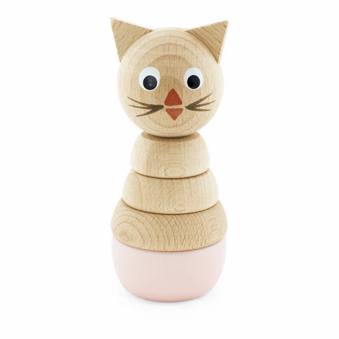 Happy Go Ducky - Wooden Victoria Stacking Cat Toy