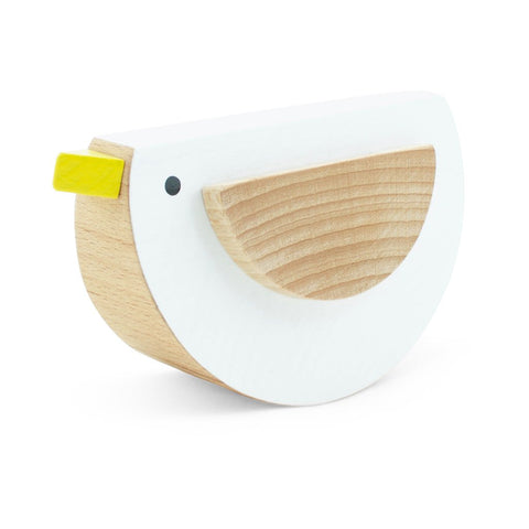 Happy Go Ducky - Wooden Rocking Bird - White