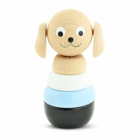 Happy Go Ducky - Wooden Brody Dog Stacking Puzzle
