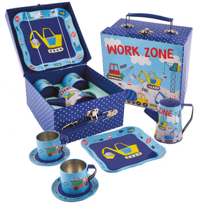 Construction Tea Set - 7 pc Set in Cardboard Carry Case