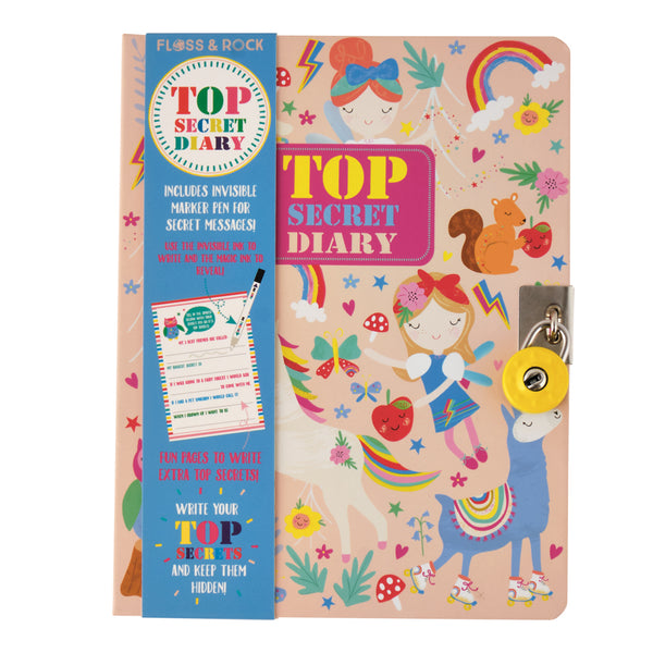 CLEARANCE - Rainbow Fairy Lockable Diary - Hardcover with padlock