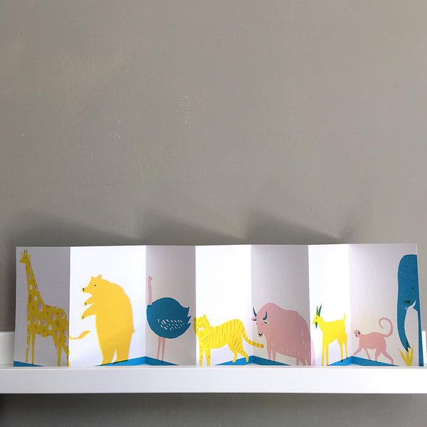 The Printed Peanut - Animals On Parade Concertina Book