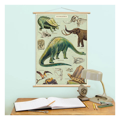 Vintage Dinosaurs Poster / Gift Wrap