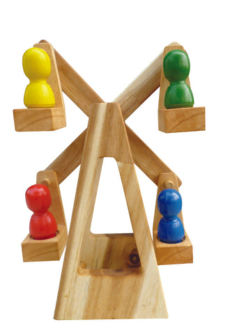 Wooden Melbourne Wheel with Rainbow Peg Dolls
