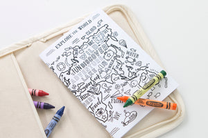 Explore The World Colour In Notebook