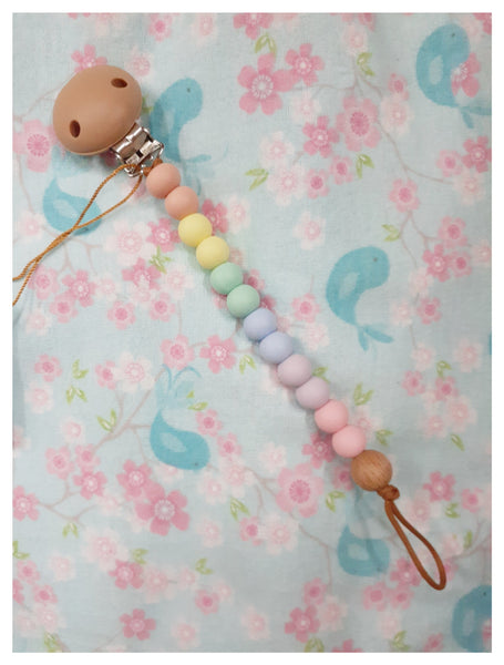 Nature Bubz - Rainbow Dummy Clip - Pastel
