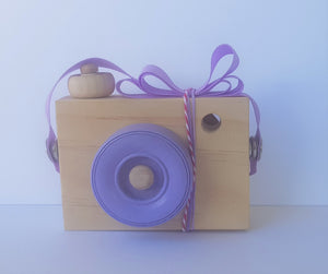 Blossom & Bee Kids Wooden Toy Camera - Purple