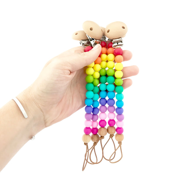 Nature Bubz - Rainbow Dummy Clip - Bright