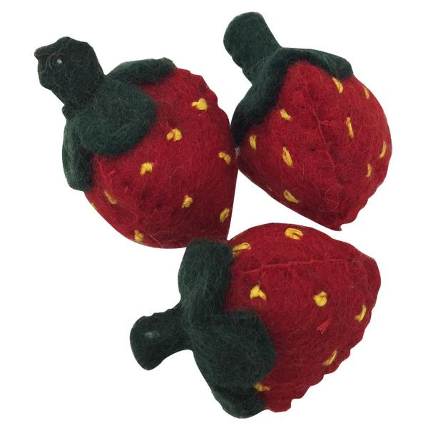 Papoose Fair Trade Felt Strawberries