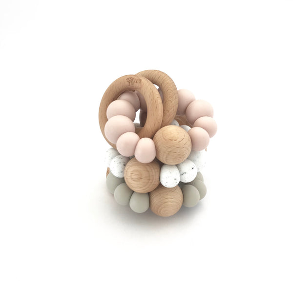 Nature Bubz - Luna Rattle Teething Ring