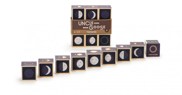 Uncle Goose - Wooden Block Set - Moon Phases