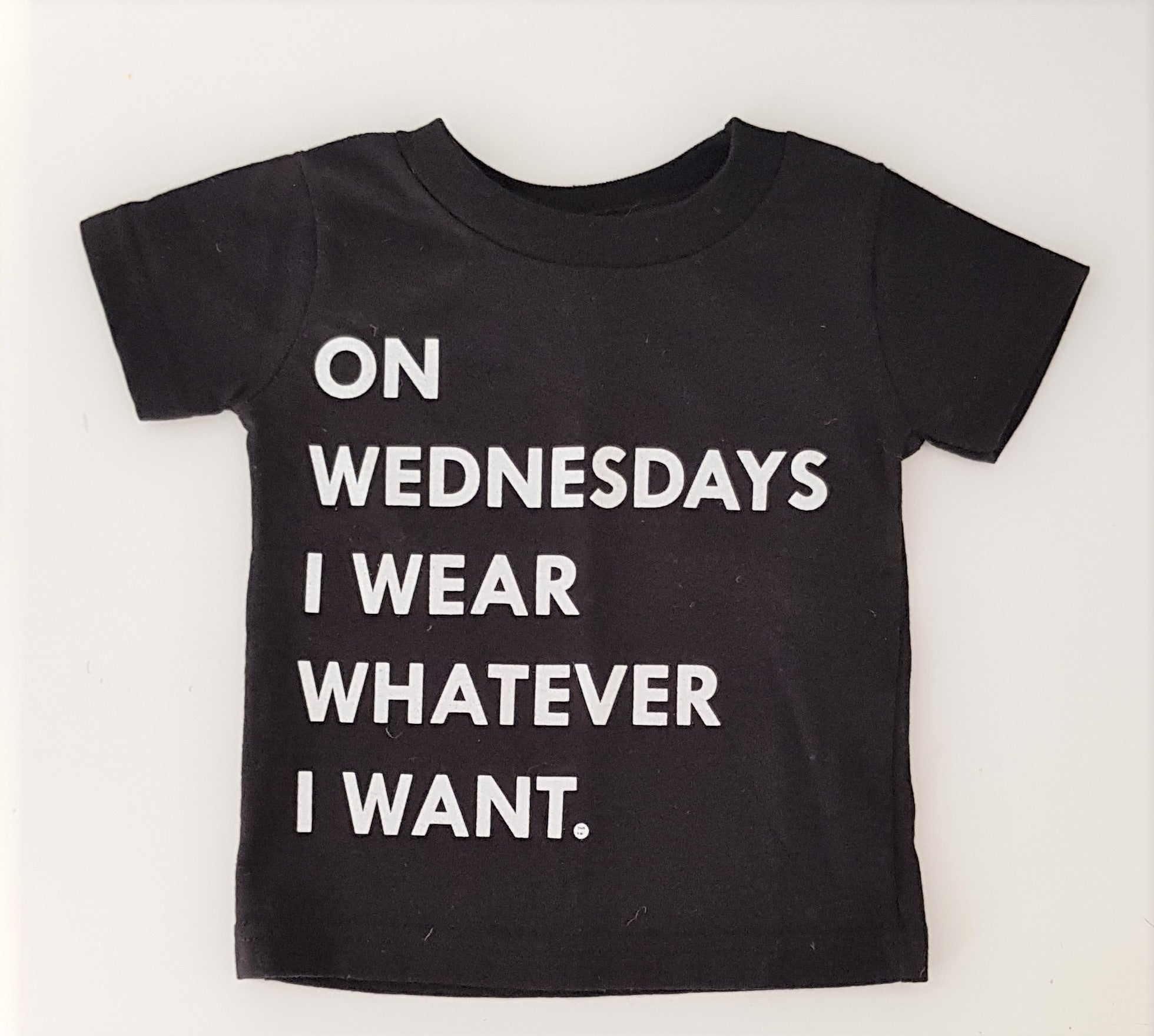 This Kid Clothing Co - On Wednesdays Tee - Black Size 6 Months