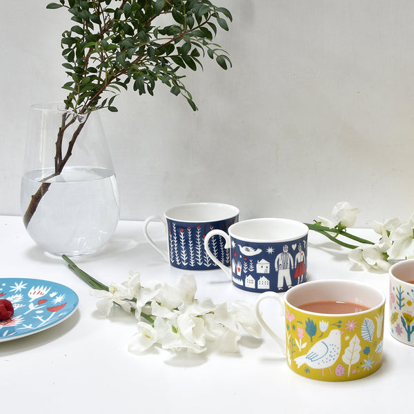 SALE - The Printed Peanut - Folk Life Plants Cup