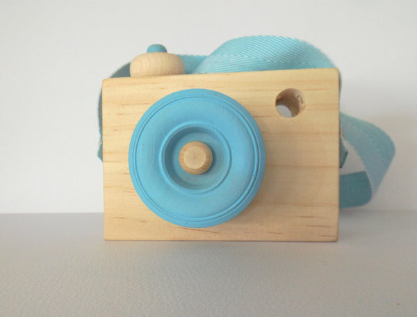 Blossom & Bee Kids Wooden Toy Camera - Blue