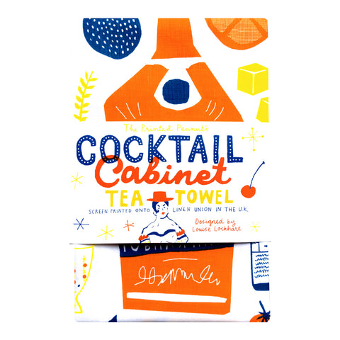 The Printed Peanut -Cocktail Cabinet Tea Towel