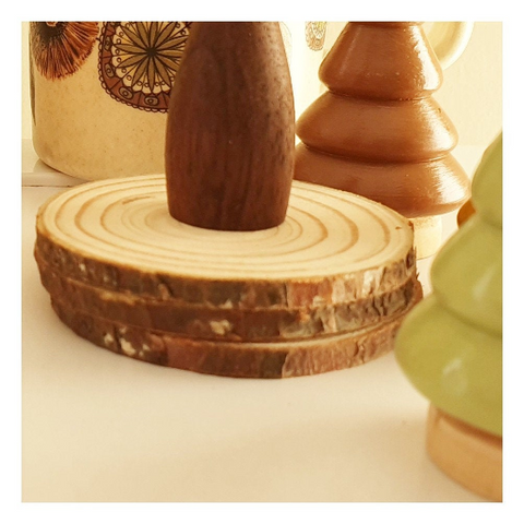 Wooden Tree Slices Set of 3