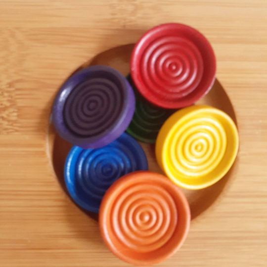 Wooden Rainbow Stacking Counters, open ended, small world, waldorf, educational montessori, home school