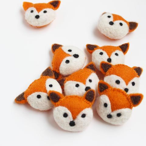 Little Felt Foxes - Open Ended Loose Parts Play