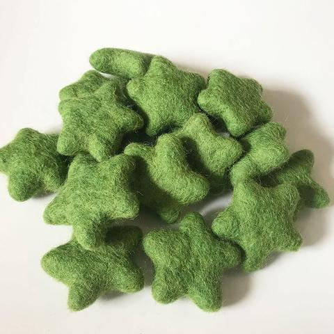 Little Felt Stars Green - Open Ended Loose Parts Play