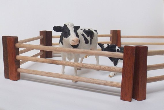 Handmade Wooden Farm Fences - Set Of 6
