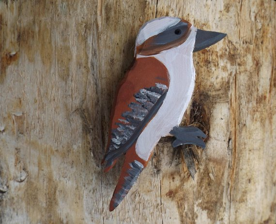 Wooden Toy Kookaburra - Australiana, Australian Native Fauna, Wooden Toys, Classic Toy, Waldorf, birds, birdlife, woodland, decor