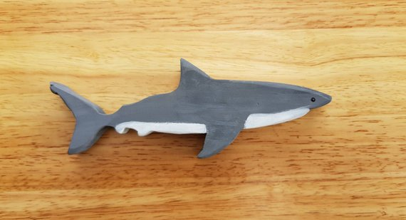 Wooden Toy Great White Shark - Australiana, Wooden Shark Toy, Wooden Toys, Classic Toy, Waldorf
