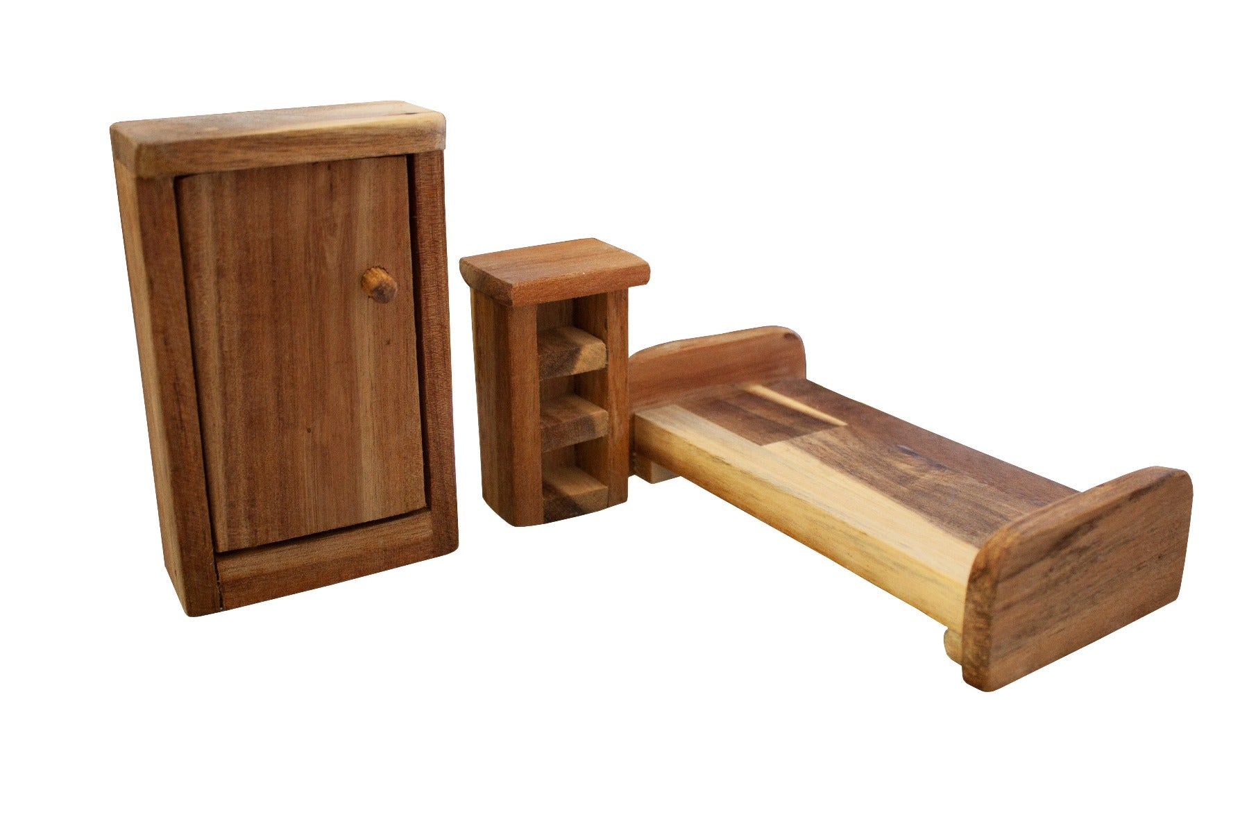 Wooden Dolls House Furniture - Set of 3 Pieces