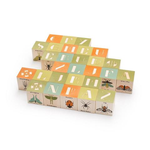 Uncle Goose - Wooden Block Set - Bugs