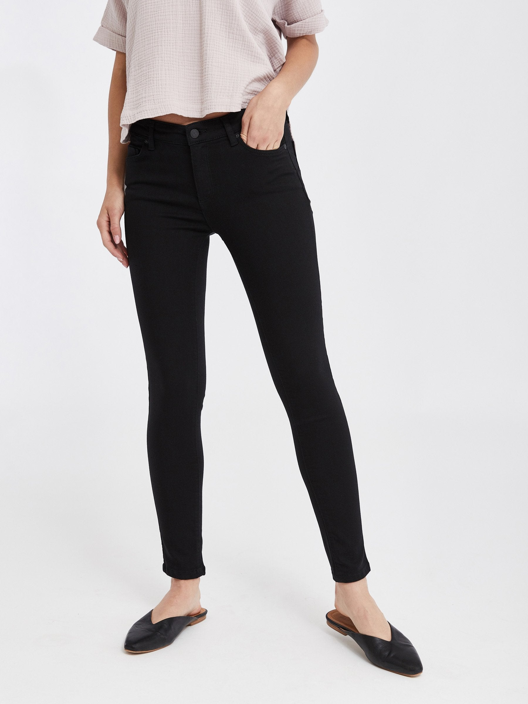 Madrid Midrise Skinny - Black