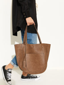Reversible Tote With Pocket
