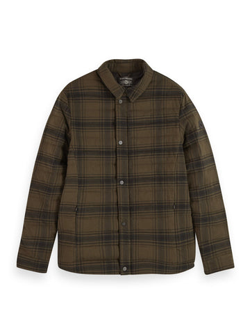 Quilt Wool Blend Shirt jacket