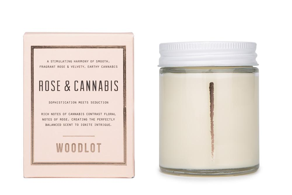 8oz Candle - Rose & Cannabis
