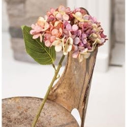 Antique Ivory Hydrangea Pick
