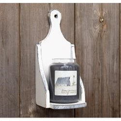 Wood Jar Candle Sconce