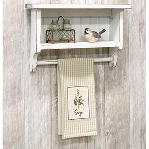 Farmhouse Beadboard Towel Rack