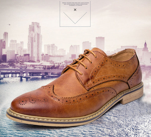 Casual British Style Men Oxfords Dress Shoes