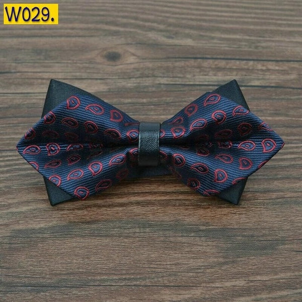Pointed bow ties