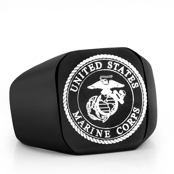 Stainless Steel US Army Marine Ring