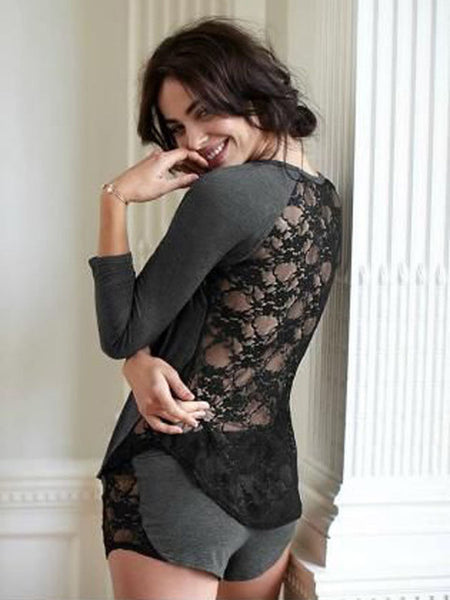 Loungewear Ladies Cotton Lace Sleepwear