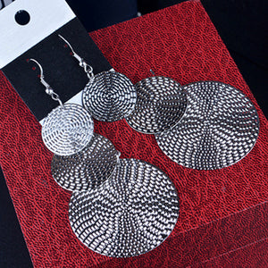 Rock Punk Big Leaf Geometric Dangle Earrings