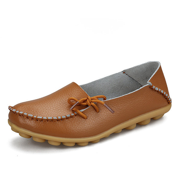 Soft Leisure Leather Female Shoes