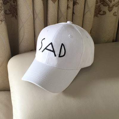 Sad Elastic Fitted Baseball Cap