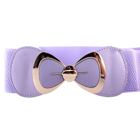 Women Fashion Bowknot Buckle Belt