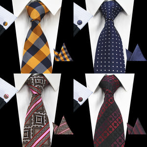 New Plaid Silk Tie Jacquard Necktie