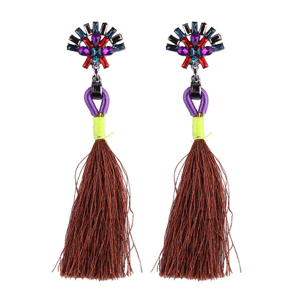 Fashion Statement Tassel Long Earrings