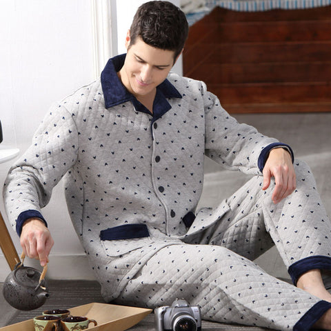 Mens Comfort Cotton Pajama Set